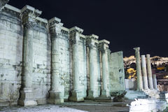 Omringende muur van Hadrian-bibliotheek in Akropolis Royalty-vrije Stock Foto's