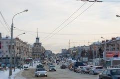 Omsk centralväg Arkivbild