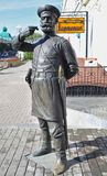 omsk Die Skulptur des Polizisten des 19. Jahrhunderts Stockfotos