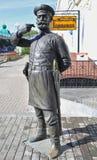 omsk La sculpture du policier du 19ème siècle Photos stock