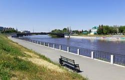 Omsk,Om river quau Stock Photography