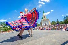 Omsk, Rússia - 12 de junho de 2015: dia russiuan imagem de stock