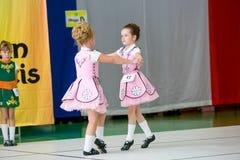 Omsk Rosja, Sierpień, - 22, 2015: Międzynarodowa konkurencja irlandzki taniec Zdjęcie Royalty Free