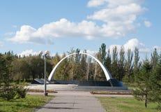 Omsk Rosja, Wrzesień, - 21, 2016: Pomnik ofiary lokalne wojny Fotografia Royalty Free