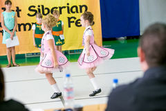 Omsk, Russia - August 22, 2015: International  competition of irish dance Royalty Free Stock Photos