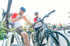 Omsk, Russia - Julay 17 , 2015: bicycle marathon royalty free stock photography