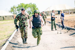 Omsk, Russia - July 1, 2015: military training Stock Images