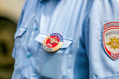 Omsk, Russia - July 10, 2015: traffic police raid Royalty Free Stock Photo