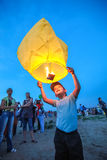 Omsk, Russia - June 16, 2012: festival of Chinese lantern Stock Image