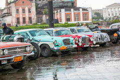 Omsk, Russia - June 11, 2013: Rally Peking-Paris Royalty Free Stock Images