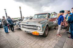 Omsk, Russia - June 11, 2013: Rally Peking-Paris Stock Photos