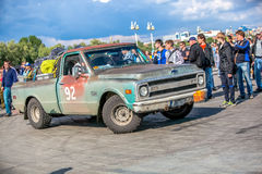 Omsk, Russia - June 11, 2013: Rally Peking-Paris Royalty Free Stock Photos