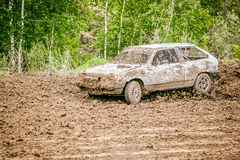 Omsk, Russia - June 22, 2014: Russian car rally racing Royalty Free Stock Images