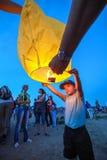 Omsk, Russie - 16 juin 2012 : festival de lanterne chinoise Images libres de droits