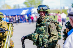 Omsk, Russie - 8 mai 2015 : défilé de victoire Photo libre de droits