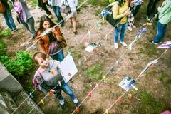 Omsk, Russie - 21 mai 2014 : Photographie de festival sur la rue Photo libre de droits