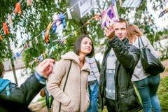 Omsk, Russie - 21 mai 2014 : Photographie de festival sur la rue Image libre de droits