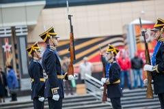 Omsk, Russie - 8 mai 2013 : régiment présidentiel Image stock