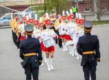 Omsk, Russie - 8 mai 2013 : régiment présidentiel Images libres de droits