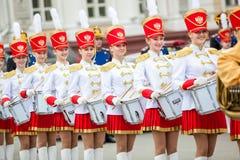 Omsk, Russie - 8 mai 2013 : régiment présidentiel Photographie stock libre de droits