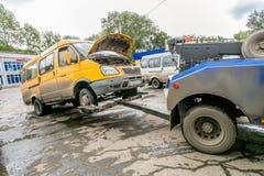 Omsk, Russland - 10. Juli 2015: Verkehrspolizei überfallen Lizenzfreie Stockbilder