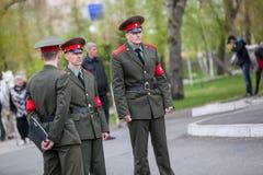 Omsk, Russland - 8. Mai 2013: Präsidentenregiment Stockbilder