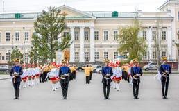 Omsk, Russland - 8. Mai 2013: Präsidentenregiment stockfoto