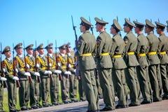 Omsk Ryssland - Juli 07, 2011: internationell militär utställning Royaltyfri Fotografi