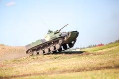 Omsk Ryssland - Juli 07, 2011: internationell militär utställning Fotografering för Bildbyråer