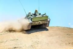 Omsk Ryssland - Juli 07, 2011: internationell militär utställning Royaltyfri Foto