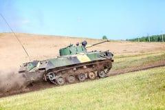 Omsk Ryssland - Juli 07, 2011: internationell militär utställning Royaltyfria Bilder
