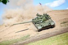 Omsk Ryssland - Juli 07, 2011: internationell militär utställning Arkivbilder