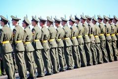 Omsk Ryssland - Juli 07, 2011: internationell militär utställning Royaltyfria Foton