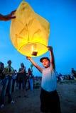 Omsk Ryssland - Juni 16, 2012: festival av den kinesiska lyktan royaltyfria bilder