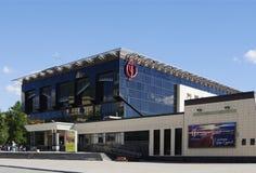 OMSK RYSSLAND - JUNI 12, 2015: Konserthall av filharmoniskt Royaltyfria Bilder