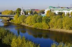 Omsk, Siberia, Russia,  panorama autumn city landscape. Stock Image