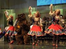 Omsk-Staatsrussischer Volkschor Lizenzfreie Stockfotos