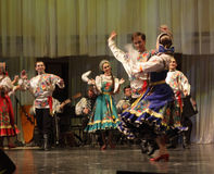 Omsk state Russian folk choir Stock Photos