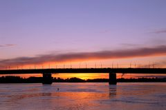 Omsk. Water, sunset, beautiful weather - what could be better royalty free stock photo