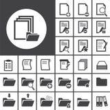 Omslag en document pictogram Stock Foto