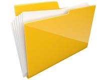 Omslag. Folder. Geïsoleerdt 3D van het dossier Stock Fotografie