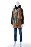 Omslag med jeans och halsduken Arkivbild