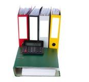 Omslag met calculator Stock Fotografie
