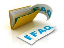 Omslag met Faq- documenten vector illustratie