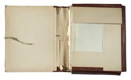 Omslag met stapel documenten royalty-vrije stock foto's