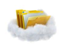 Omslagen in een wolk stock illustratie