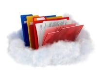 Omslagen op wolk stock illustratie