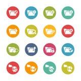 Omslagpictogrammen - 1 -- Verse Kleurenreeks Stock Afbeeldingen