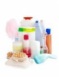 Omsorg och badrumprodukter Arkivbilder