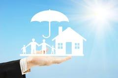 Omsorg om traditionella familjevärderingar Arkivbild